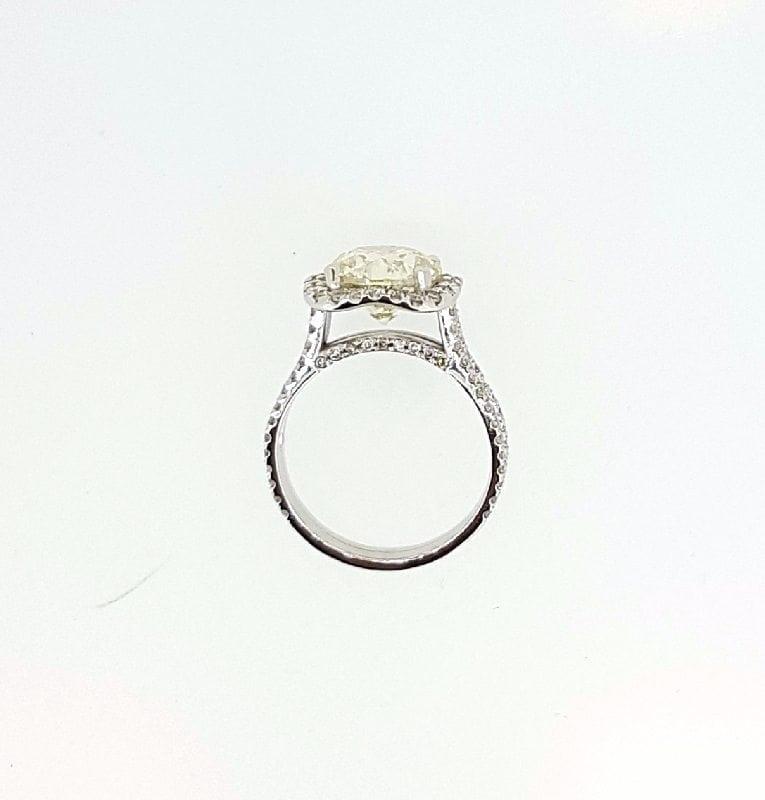 5.25 Ct Round Cut F Vs1 Diamond Halo Engagement Ring 14K White Gold 3