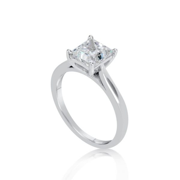 princess products cut large diamond collections rings solitaire white engagement ring gold enhanced
