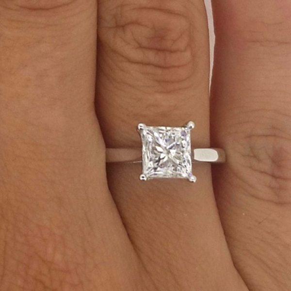 15 carat princess cut diamond engagement ring ara diamonds