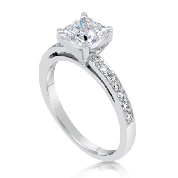 v rings princesscut ring white gold diamond princess cut p ct solitaire engagement in