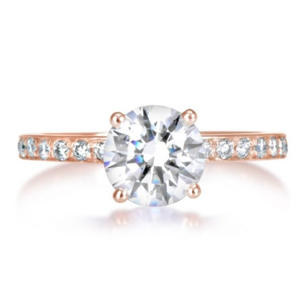 1.70 Ct Round Cut Diamond Solitaire Engagement Ring 14K Rose Gold 2