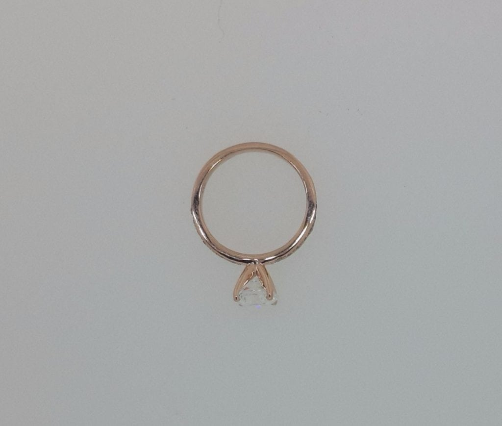 1.70 Ct Round Cut Diamond Solitaire Engagement Ring 14K Rose Gold 3
