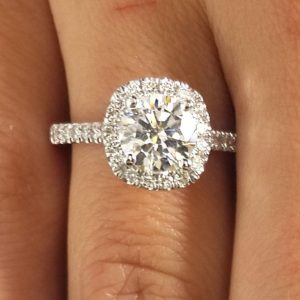 1.86 Ct Round Cut Diamond Solitaire Engagement Ring 18K White Gold