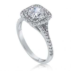 2 Carat Cushion Cut Diamond Engagement Ring