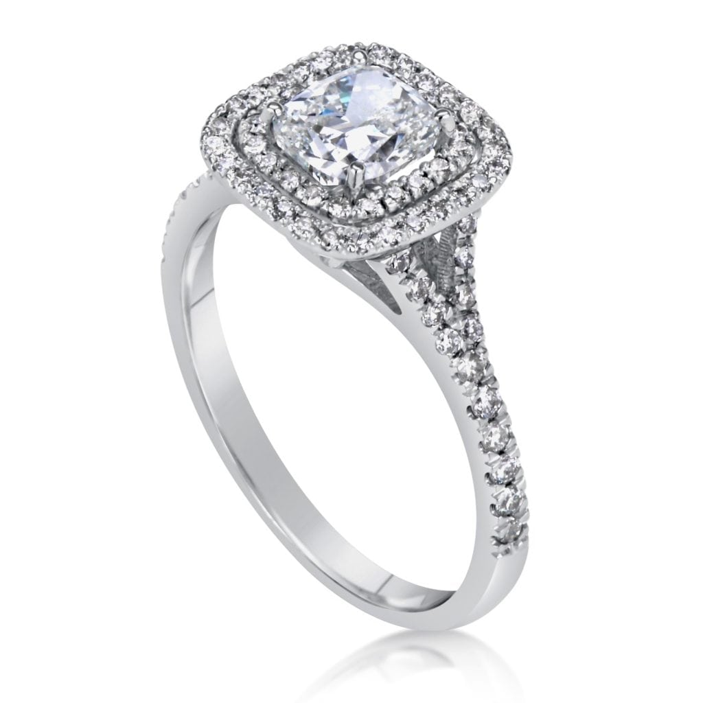 2 Carat Cushion Cut Diamond Engagement Ring Ara Diamonds