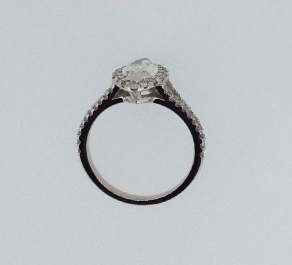 2 Carat Marquise Cut Diamond Engagement Ring 14K White Gold 2