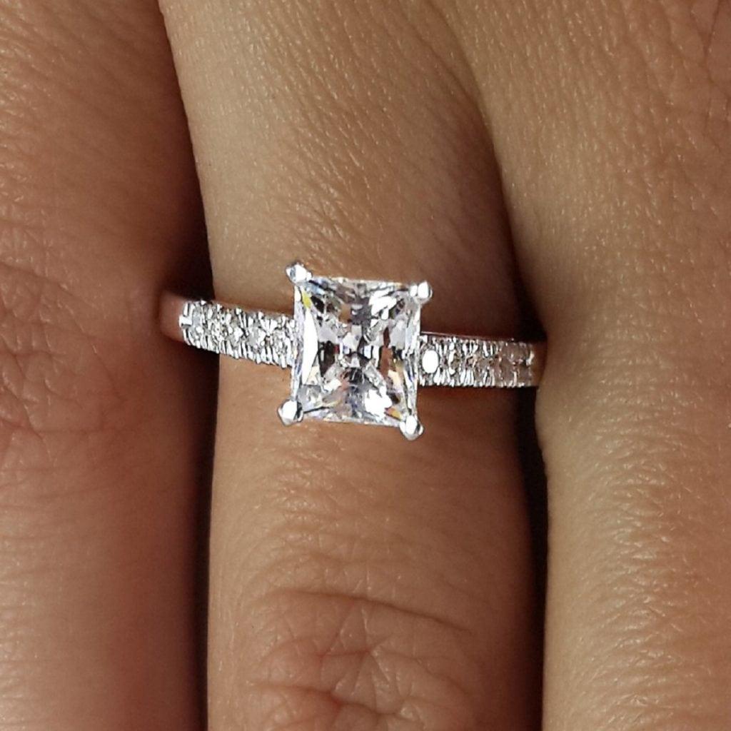 2 Carat Princess Cut Diamond Engagement Ring | Ara Diamonds