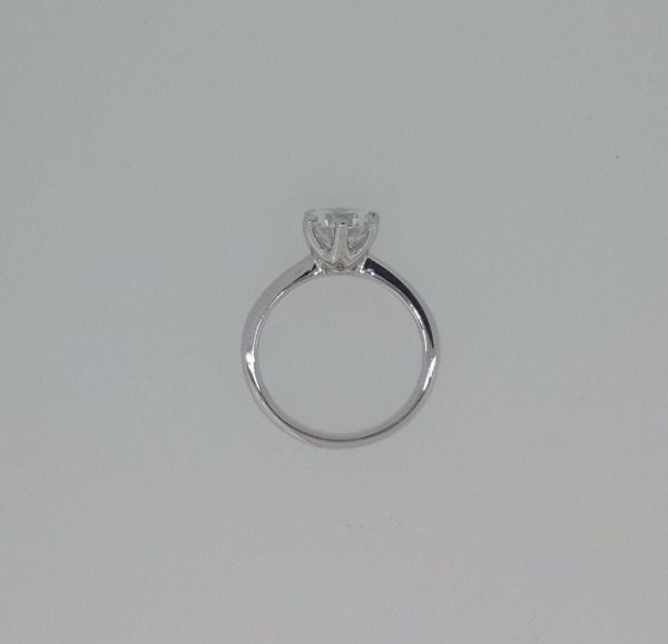 2.00 Ct Round Cut Diamond Solitaire Engagement Ring 18K White Gold 3