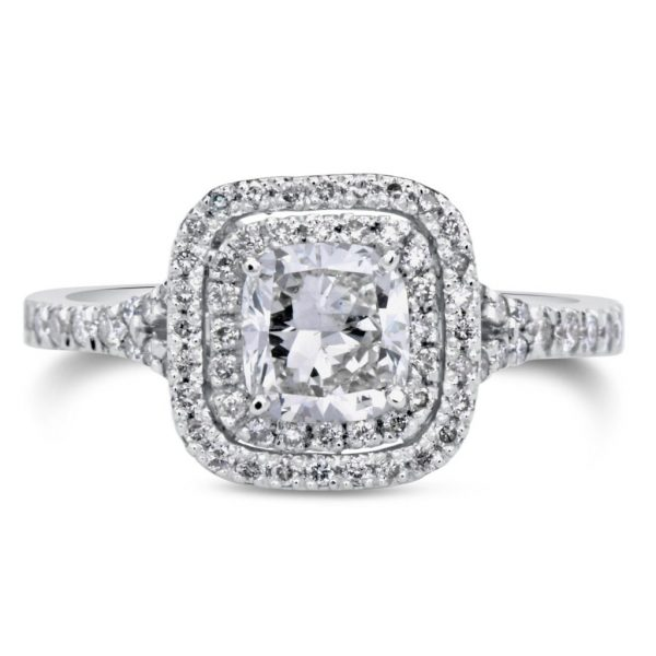 2.00 Ct Round Cut Diamond Solitaire Engagement Ring 18K White Gold