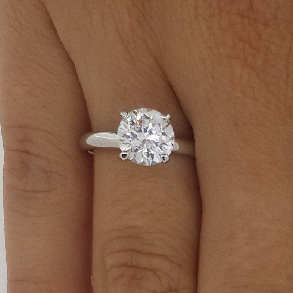 2.00 Ct Round Cut F/Vs2 Diamond Solitaire Engagement Ring 14K White Gold
