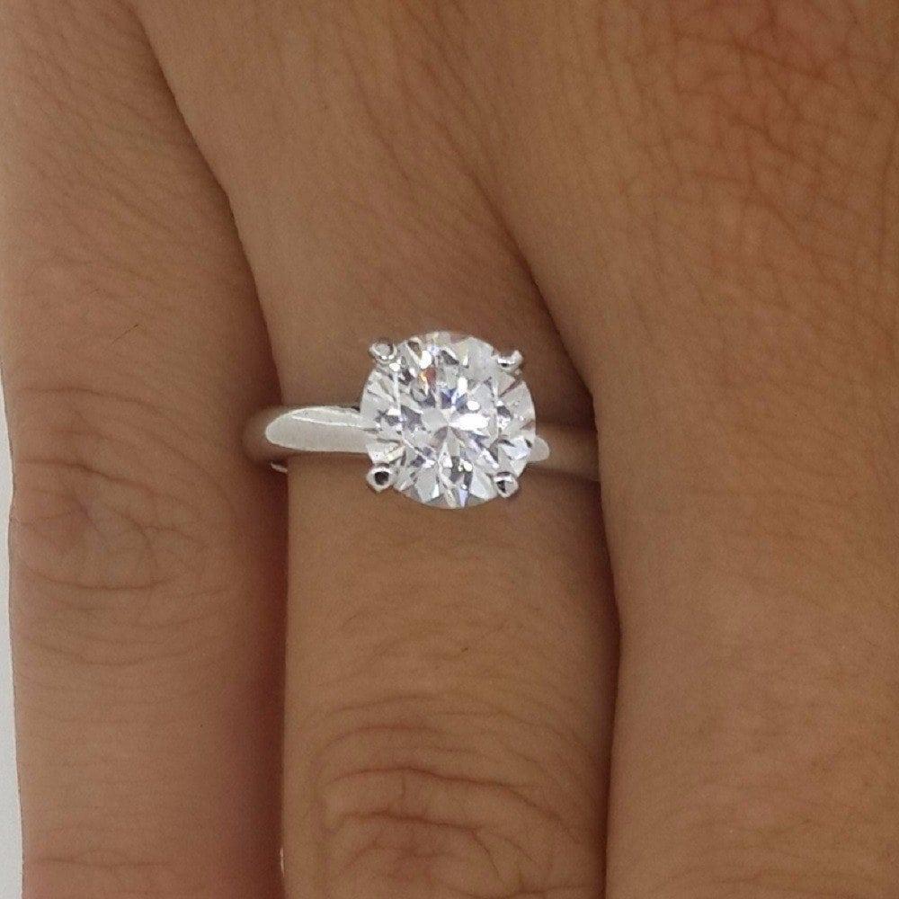 2.00 Ct Round Cut F Vs2 Diamond Solitaire Engagement Ring 14K White Gold 09694efdb
