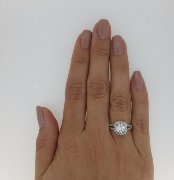 2.05 Ct Round Cut Vs Diamond Solitaire Engagement Ring 18K White Gold 2