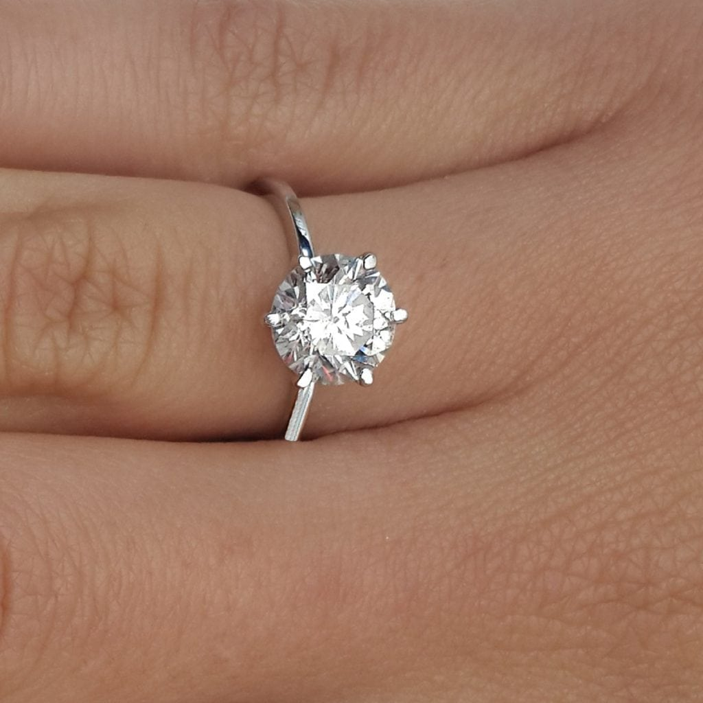 with preset double diamond laying carat cushion split halo engagement i in ring white cut gia front gold shank certified