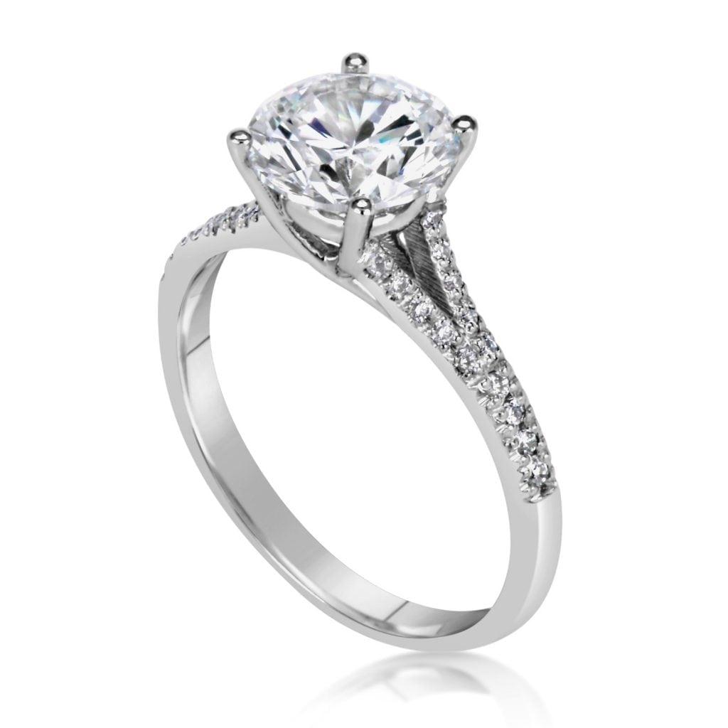 2 5 Carat Round Cut Diamond Engagement Ring Ara Diamonds