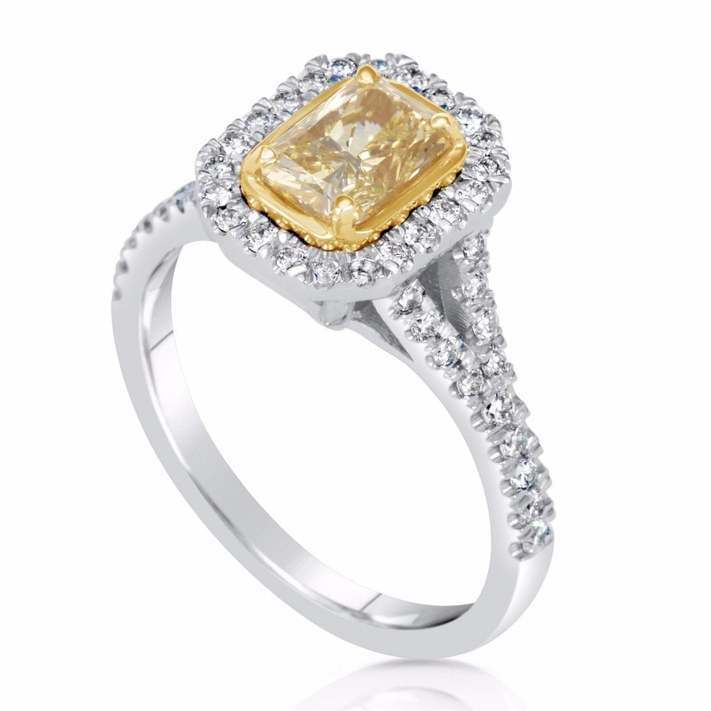rings fancy cut benzdiamonds ring diamond engagement yellow products radiant collections