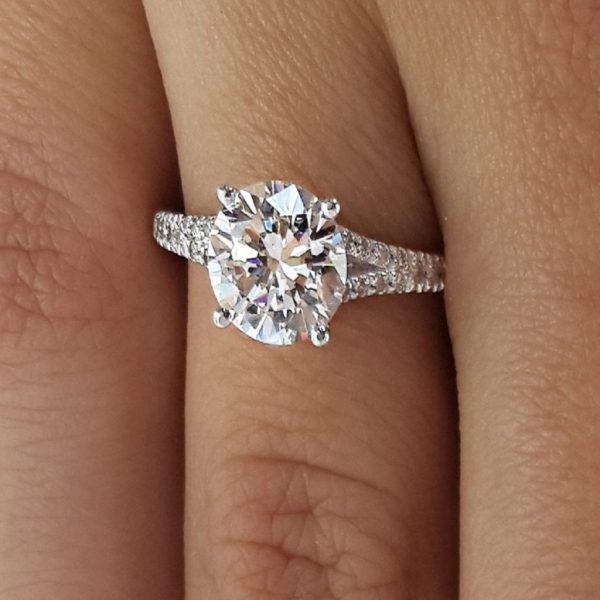 2.50 Ct Round Cut Si1 Diamond Solitaire Engagement Ring 14K White Gold 2