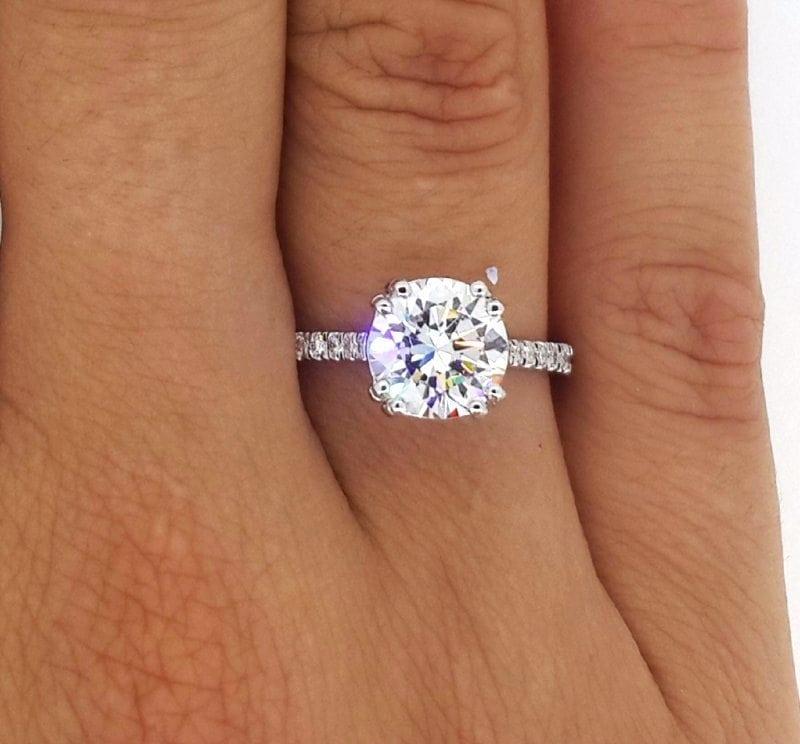 carat round cut diamond engagement ring ara diamonds. Black Bedroom Furniture Sets. Home Design Ideas