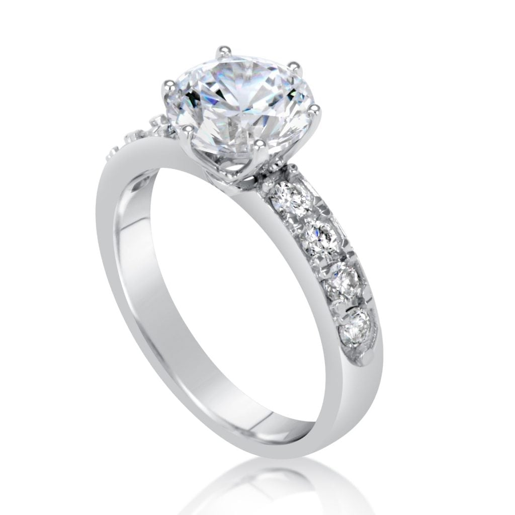 diamonds shop cut carat gold white diamond ara engagement ring round