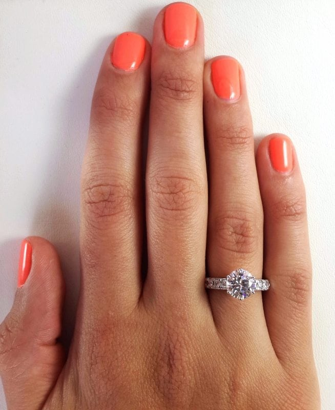 2.70 Ct Round Cut Diamond Solitaire Engagement Ring 14K White Gold 3