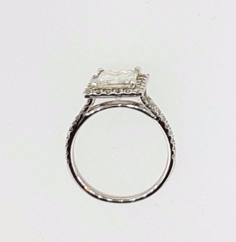 3 Carat Princess Cut Diamond Engagement Ring 14K White Gold 2