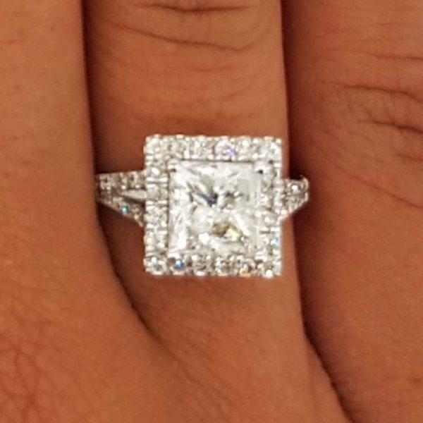 3 carat princess cut diamond engagement ring ara diamonds
