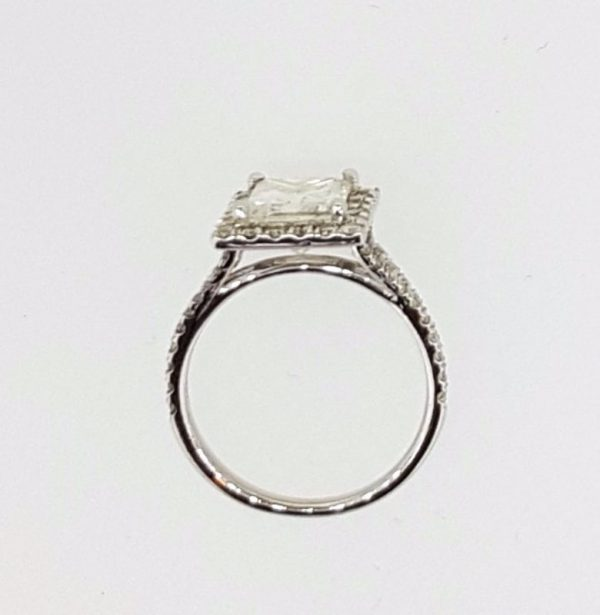 3.00 Ct Princess Cut Diamond Solitaire Engagement Ring 18K White Gold 2