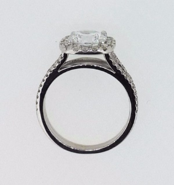 3.60 Ct Round Cut DVs2 Diamond Solitaire Engagement Ring 14K White Gold 4