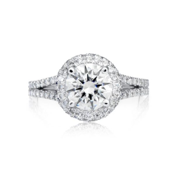 4.10 Ct Round Cut FVs2 Diamond Solitaire Engagement Ring 18K White Gold 2