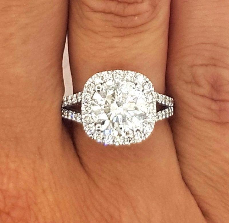 4 5 Carat Round Cut Diamond Engagement Ring Ara Diamonds