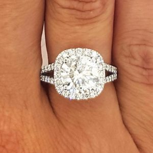 4.50 Ct Round Cut D/Vs1 Halo Diamond Engagement Ring Enhanced 14K White Gold