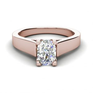Cathedral 2.5 Carat VS1 Clarity F Color Oval Cut Diamond Engagement Ring Rose Gold 3