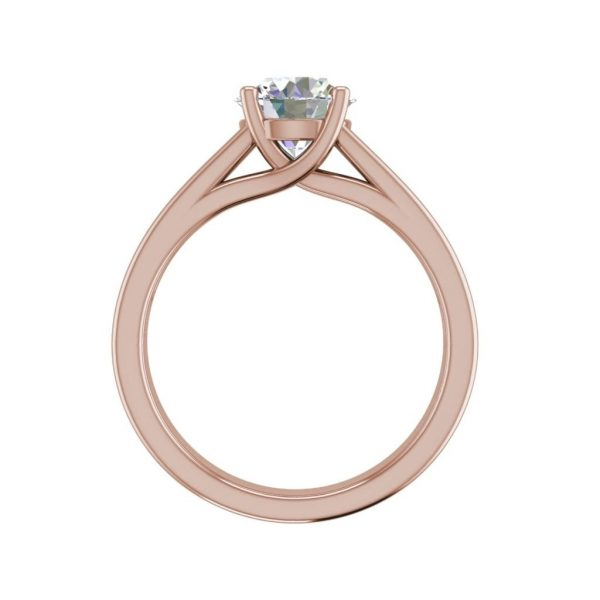 Channel Set 2.75 Carat VVS1 Clarity D Color Round Cut Diamond Engagement Ring Rose Gold 2