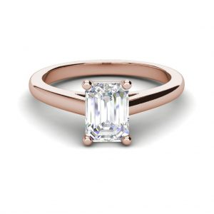 Solitaire 1.75 Carat VS2 Clarity F Color Emerald Cut Diamond Engagement Ring Rose Gold 3