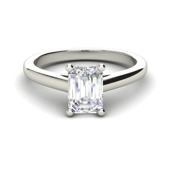 Solitaire 1.75 Carat VS2 Clarity F Color Emerald Cut Diamond Engagement Ring White Gold 3