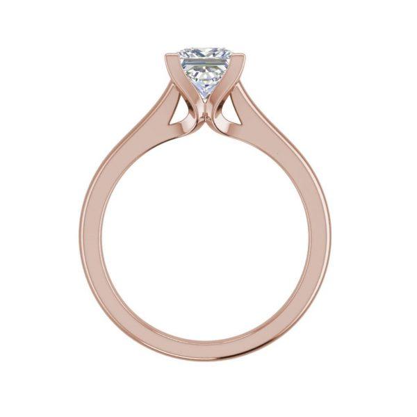 Solitaire 2.5 Carat VVS1 Clarity D Color Princess Cut Diamond Engagement Ring Rose Gold 2
