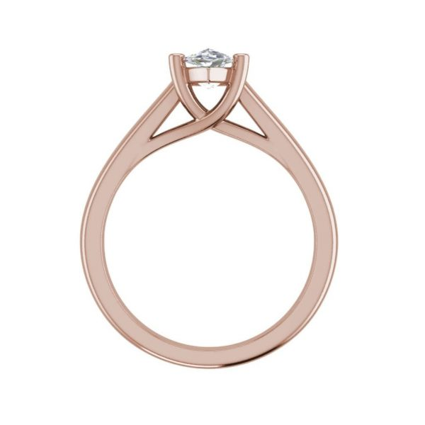 Solitaire 2.75 Carat VS1 Clarity F Color Marquise Cut Diamond Engagement Ring Rose Gold 2
