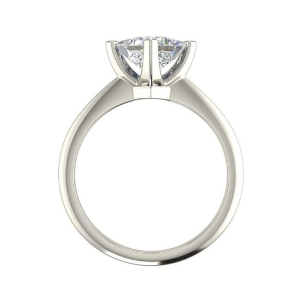 4 Prong 1 Carat VS2 Clarity D Color Princess Cut Diamond Engagement Ring White Gold 2
