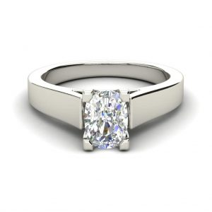 Channel Set 3.45 Carat VS2 Clarity D Color Oval Cut Diamond Engagement Ring White Gold 4