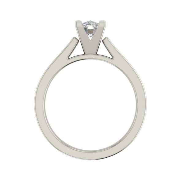 Cathedral 2.5 Carat VS2 Clarity H Color Oval Cut Diamond Engagement Ring White Gold 2