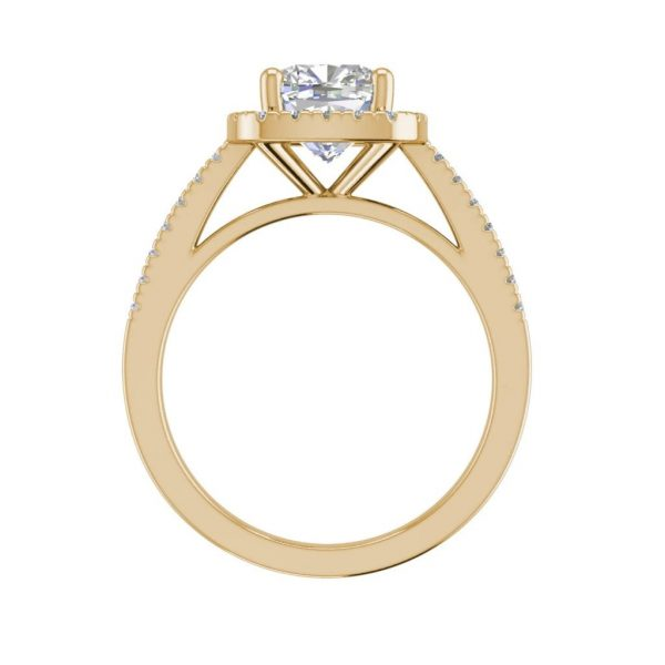Halo 3.2 Carat VVS1 Clarity D Color Cushion Cut Diamond Engagement Ring Yellow Gold 2