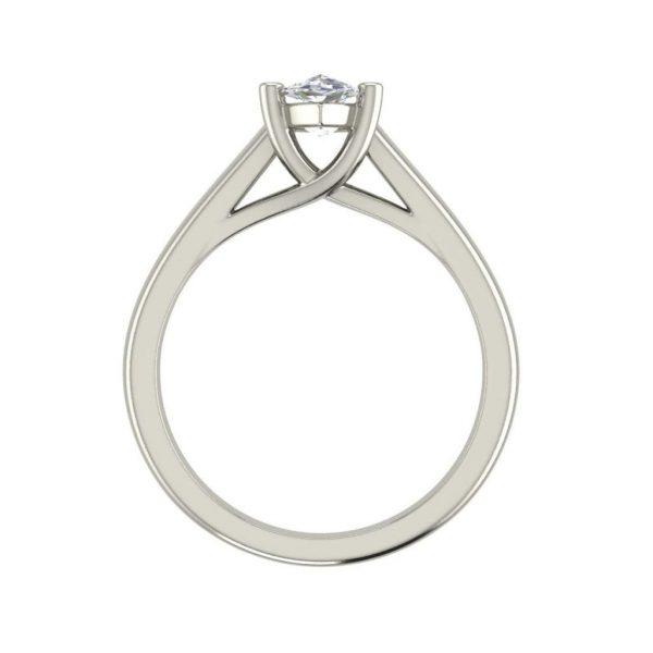 Solitaire 0.5 Carat VVS1 Clarity D Color Marquise Cut Diamond Engagement Ring White Gold 2