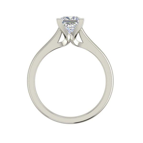 Solitaire 2.25 Carat VS2 Clarity F Color Princess Cut Diamond Engagement Ring White Gold 2