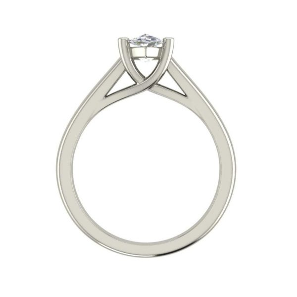 Solitaire 2.75 Carat SI1 Clarity D Color Marquise Cut Diamond Engagement Ring White Gold 2