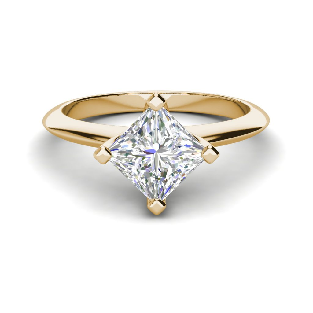 4 Prong 0 75 Carat Vs1 F Princess Cut Diamond Engagement Ring