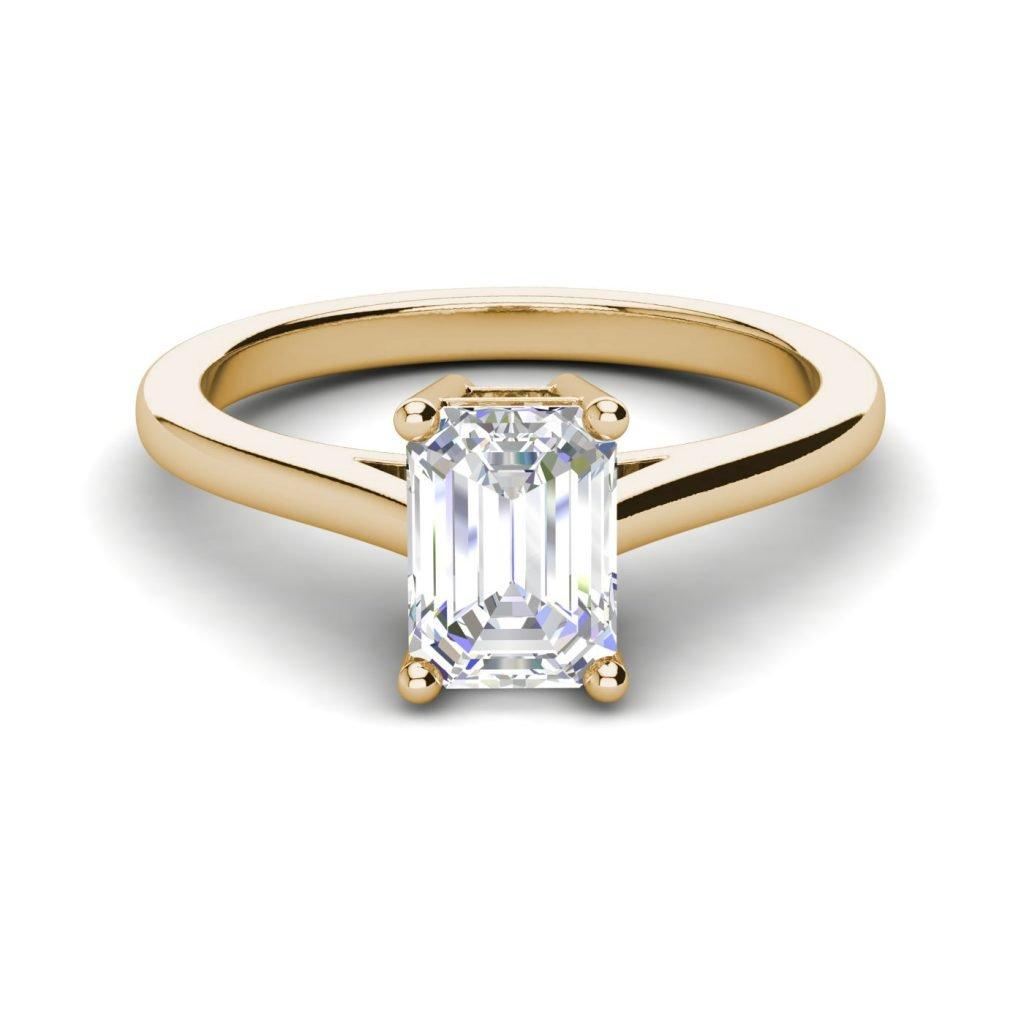 4 Prong 2 25 Carat Vs2 D Emerald Cut Diamond Engagement Ring