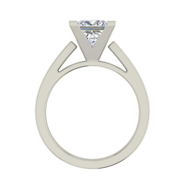 Cathedral 1 Carat VS1 Clarity H Color Princess Cut Diamond Engagement Ring White Gold 2