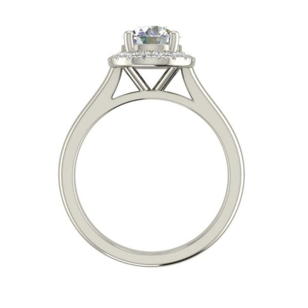 1.15 Carat Halo Solitaire Round Cut Diamond Engagement Ring 1