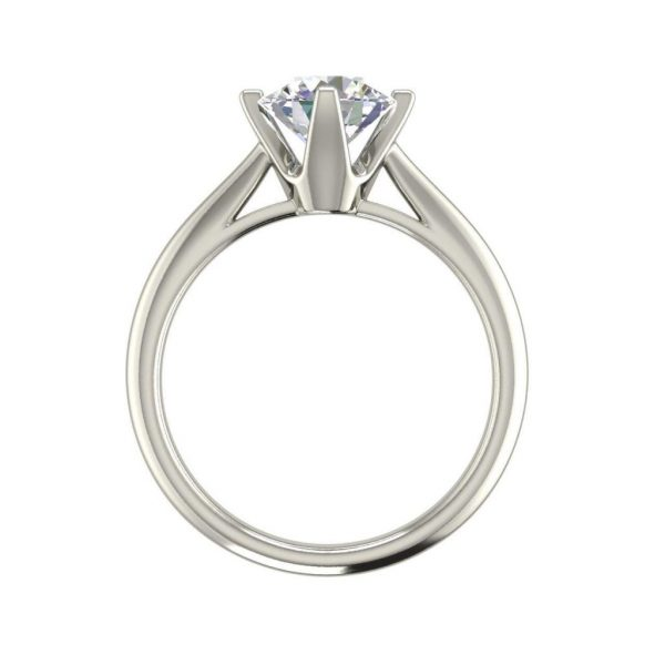 4 Claw Solitaire 0.5 Carat Round Cut Diamond Ring 3