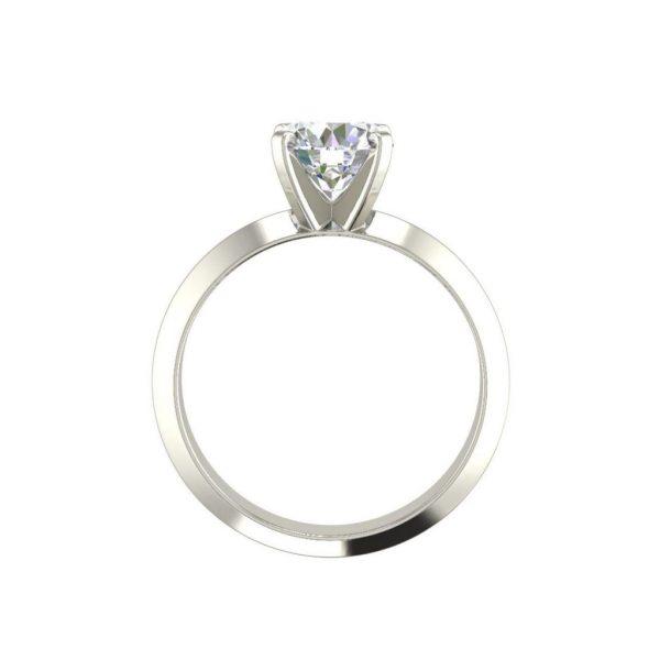 Knife Edge 0.5 Carat Round Cut Diamond Engagement Ring