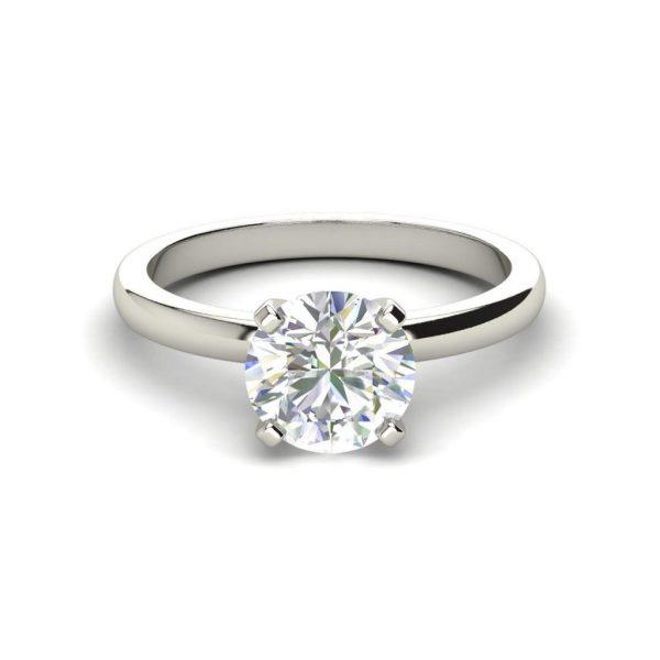 Round Cut Solitaire 0.5 Carat Diamond Ring